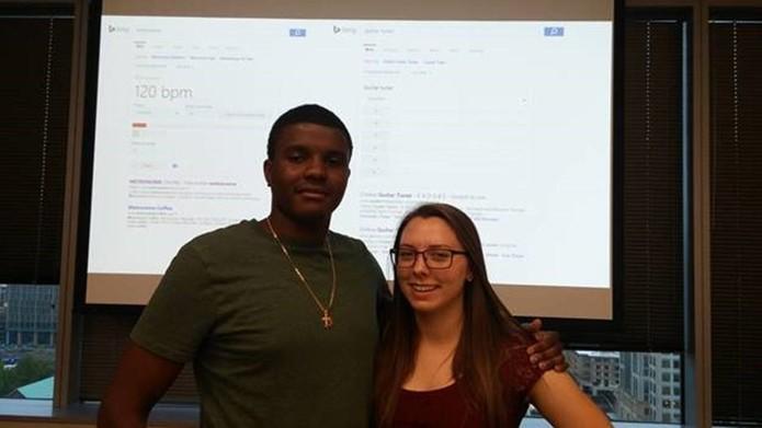 Oliver e Cassie, responsáveis pelo projeto das novas ferramentas do Bing (Foto: Divulgação/Bing)
