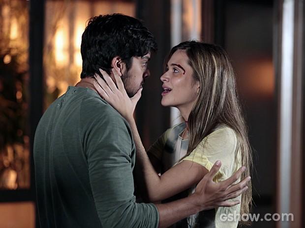 Lili e Marlon armam para enganar LC (Foto: Felipe Monteiro/TV Globo)
