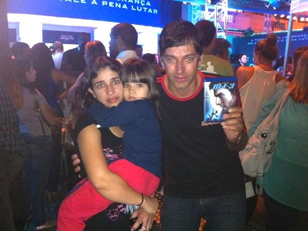 Geraldo veio de Minas Gerais com as filhas (Foto: Foto: Gabriel Barreira)