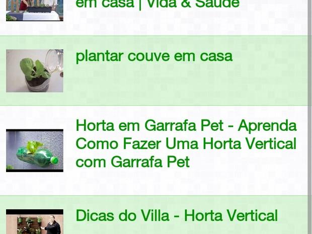Aplicativo de horta em Rio das Ostras (Foto: Leonardo Veloso/Arquivo pessoal)
