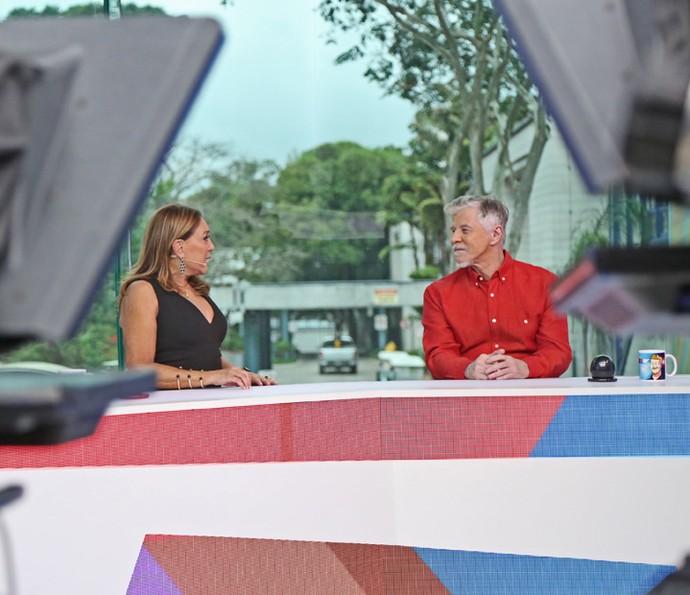 Susana Vieira e Miguel Falabella assumem bancada do 'Vídeo Show' (Foto: Isabella Pinheiro / Gshow)