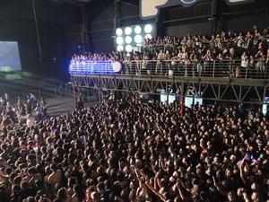 Público foi ao delírio com show de Demi Lovato (Foto: Gabriel Galli / G1)