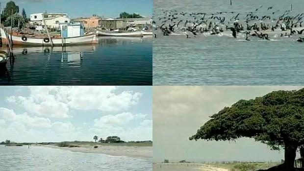 Ilha da Feitoria oferece sossego e beleza natural (Reprodução/RBS TV)