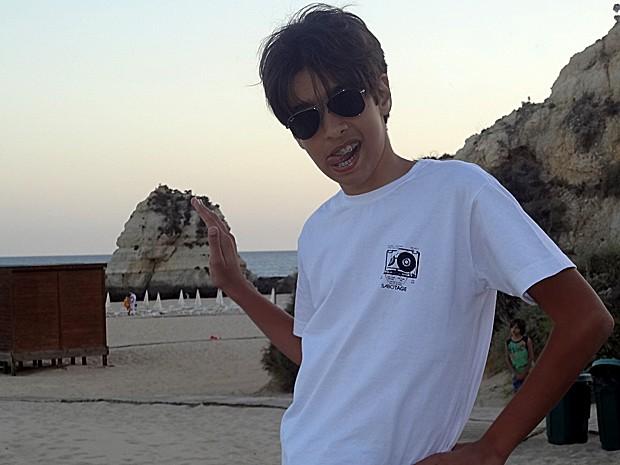 Matheus Costa se hospedou na praia da Rocha, em Portimão (Foto: Arquivo Pessoal)