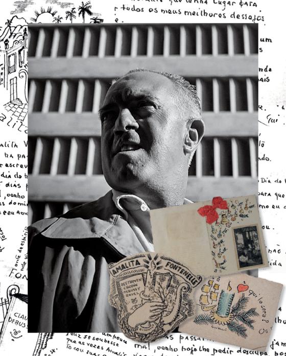 ROMÂNTICO  O pintor Alberto da Veiga Guignard no Rio de Janeiro, em 1946. Ele pintava cartões apaixonados para Amalita (Foto: Instituto Moreira Salles, divulgação (3))