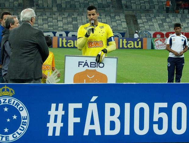 Fábio Placa 500 jogos, Cruzeiro x Náutico (Foto: Washington Alves/Vipcomm)