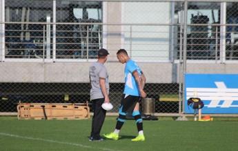 Everton tem lesão na coxa direita e vira baixa por até 4 semanas no Grêmio