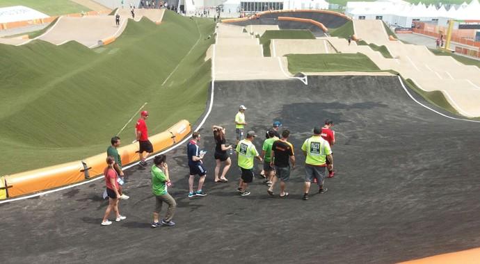 pista, evento-teste, ciclismo BMX (Foto: Lorena Dillon)