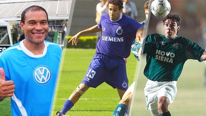 Müller, Maurinho e Alex Dias: trio pode atuar junto no Fernandópolis (Foto: Montagem/ GloboEsporte.com)