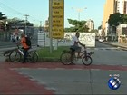 Em Belém, ciclistas são flagrados em faixa expressa do BRT