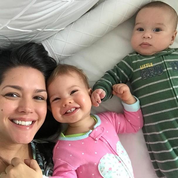 Thais, Melinda e Teodoro (Foto: Instagram/Reprodução)