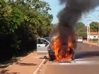 Caminhonete da Sema tem pane e pega fogo em cidade de MT