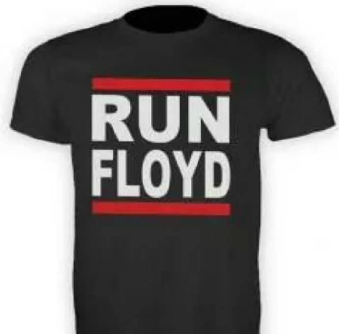 """""""Run Floyd"""" em referência ao símbolo do grupo Run DMC (Foto: Reprodução)"""