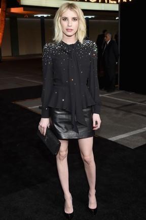 Emma Roberts em evento de moda em Los Angeles, nos Estados Unidos (Foto: Larry Busacca/ Getty Images/ AFP)
