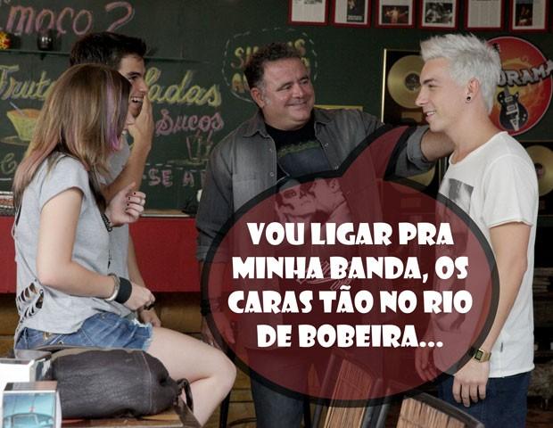 Di Ferrero brota no Misturama e Lia e Gil ficam de bobeira (Foto: Malhação / TV Globo)