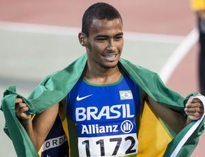 Daniel Tavares conquista o primeiro ouro do Brasil no Mundial Paralímpico de Atletismo em Doha, no Catar (Foto: Daniel Zappe)