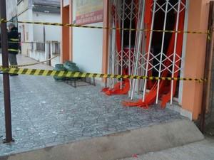 Explosão padaria Dom Pedrito RS (Foto: Claudenir Munhoz/Arquivo Pessoal)
