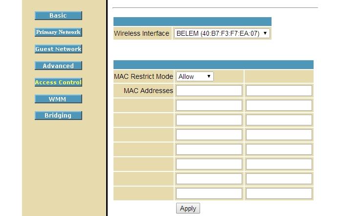 Insira na lista o endereço MAC dos dispositivos que podem acessar à rede (Foto: Reprodução/Paulo Alves)