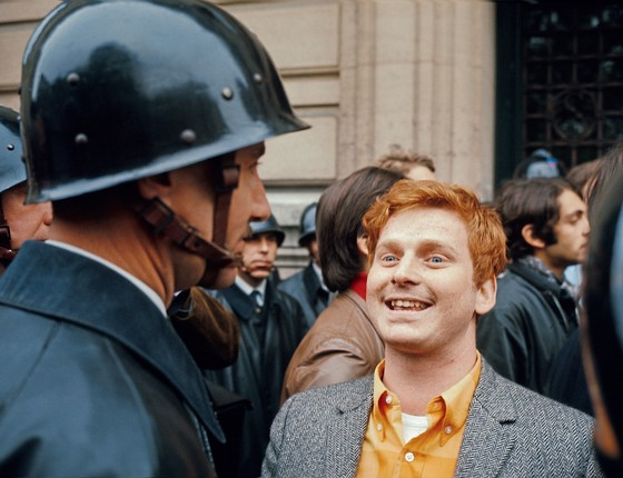 """Daniel Cohn-Bendit.Ele era chamado"""" O Vermelho"""" também porcausa dos cabelos ruivos (Foto: Georges Melet/Paris Match via Getty Images)"""