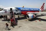 Companhia aérea filipina customiza aviões com foto e nome de Pacquiao