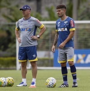 Mano Menezes, Federico Gino; Cruzeiro (Foto: Washington Alves/ Light Press)