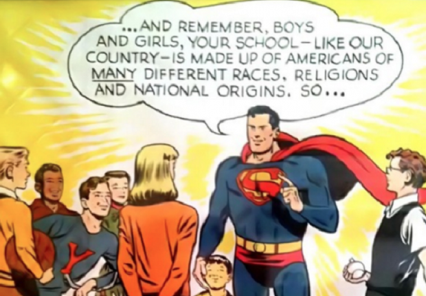 Quadrinho do gibi Superman versus KKK que fez com o Homem de Aço derrotasse os militantes da Ku-Klux-Klan (Foto: Reprodução/YouTube)