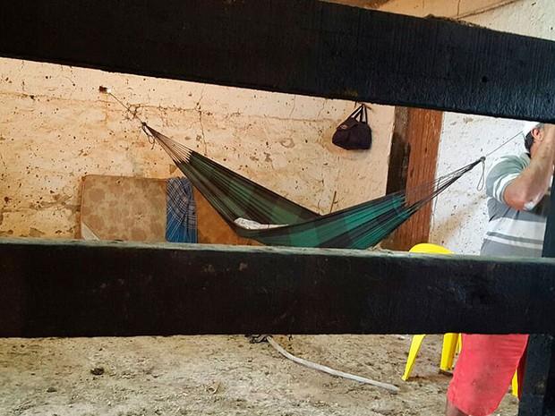 Alojamento de trabalhadores em parque de vaquejada em Serrinha, Bahia (Foto: MPT-BA / Divulgação)