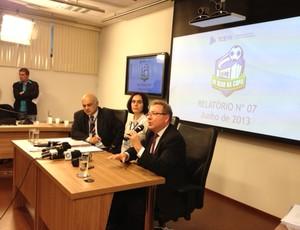 Reunião Tribunal do Contas do Estado ARena da Baixada (Foto: Fernando Araújo)
