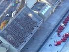 Bombeiros simulam resgate no Sambódromo para a Rio 2016