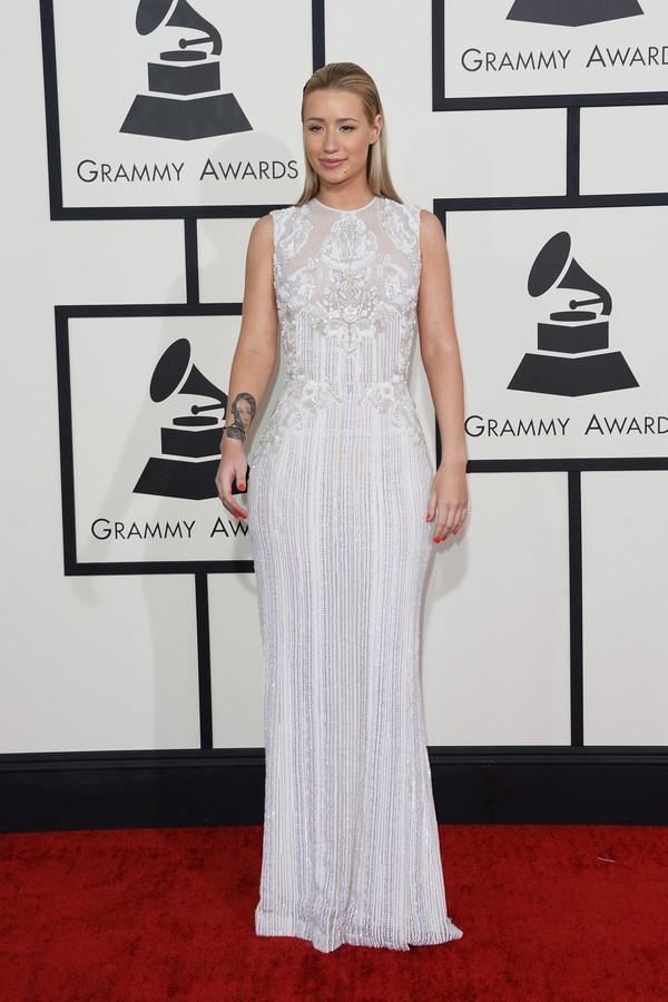 Iggy Azalea no Grammy de 2014, sua primeira cerimônia (Foto: Getty Images)