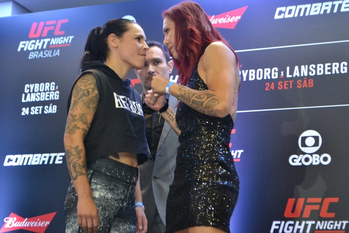 Lina Lansberg x Cris Cyborg UFC Brasília (Foto: Raphael Marinho)