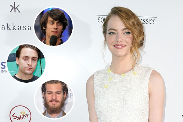 Emma Stone, Teddy Geiger, Kieran Culkin e Andrew Garfield (Foto: Getty Images)