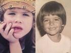 Giovanna Ewbank mostra fotos dela e do maridão Bruno Gagliasso na infância