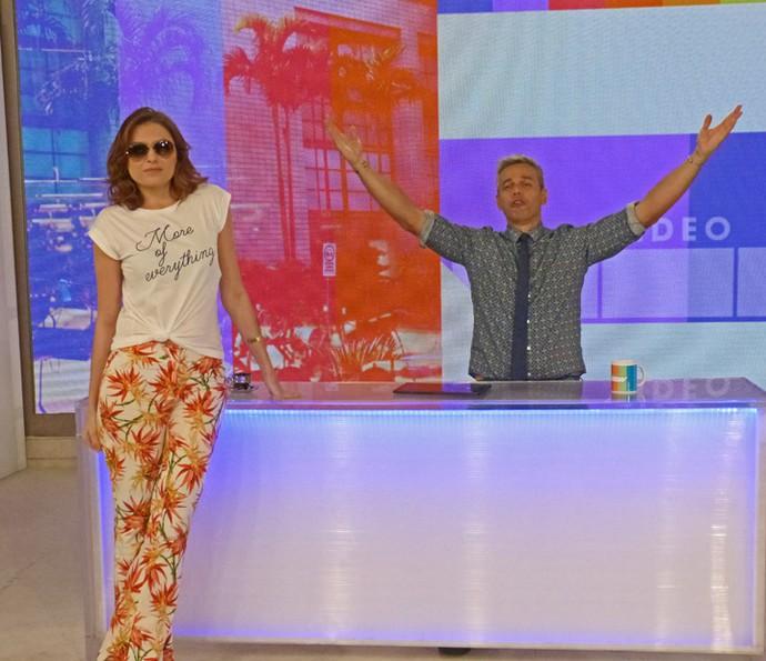 Monica Iozzi e Otaviano Costa comandam especial de Carnaval (Foto: Cristina Cople / TV Globo)