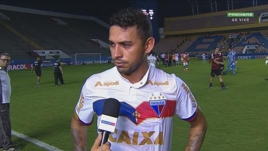 """Felipe analisa empate e pede apoio da torcida em casa: """"Faltou concentração na última bola"""""""