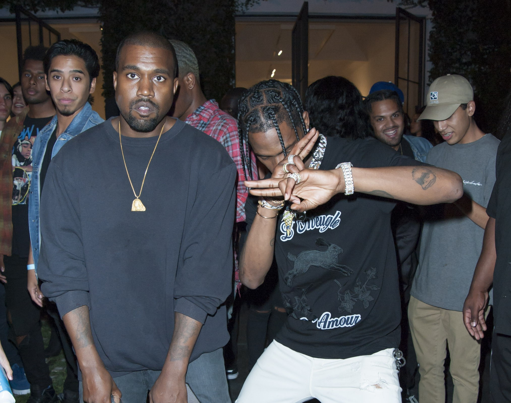 Kanye West e Travis Scott (Foto: Getty Images)
