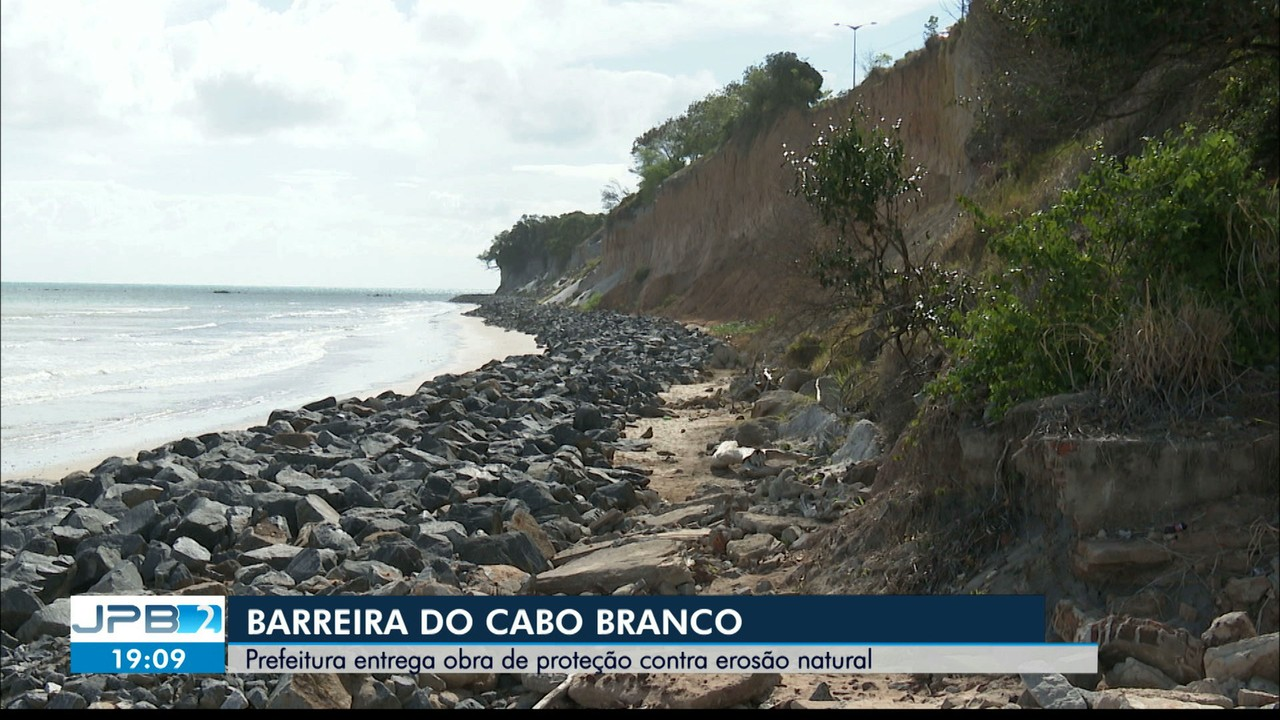 PMJP entrega parte da obra que promete resolver problema da Falésia do Cabo Branco