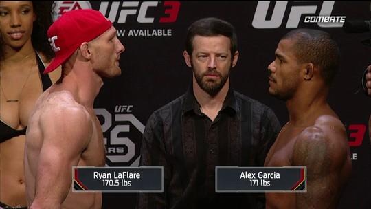 Ryan Laflare e Alex Garcia passam pela pesagem do UFC Atlantic City