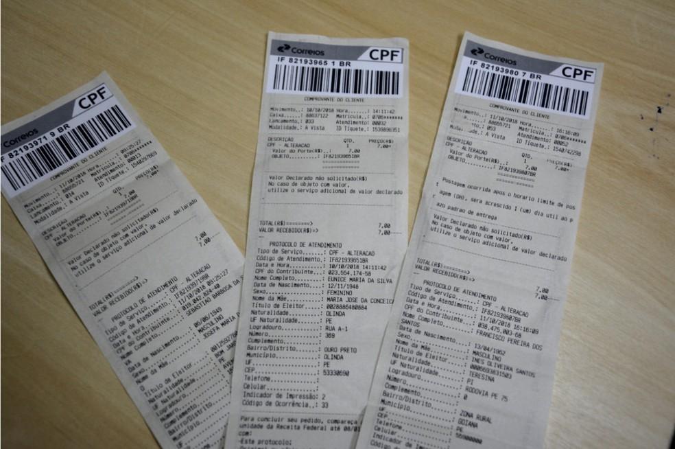 Menor de idade foi preso na Receita Federal, em Goiana, tentando realizar procedimentos em três CPFs falsificados — Foto: PF/Divulgação