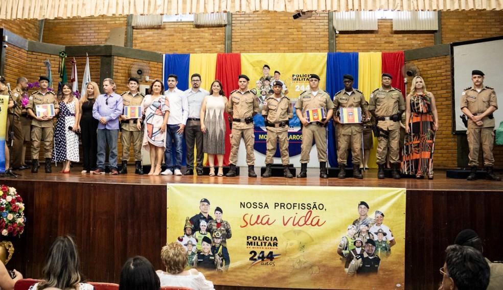 Cerimônia de passagem de comando foi realizada nesta segunda (10) — Foto: Polícia Militar / Divulgação