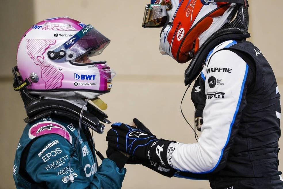 Vettel se desculpa com Ocon por acidente no GP do Bahrein — Foto: Reprodução