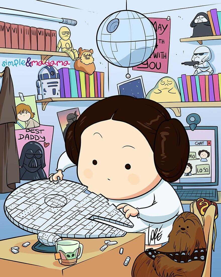 Principessa Leia (Foto: Run: Bored Panda)
