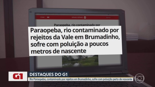Rio Paraopeba, contaminado por rejeitos da Vale, sofre com poluição perto de nascente