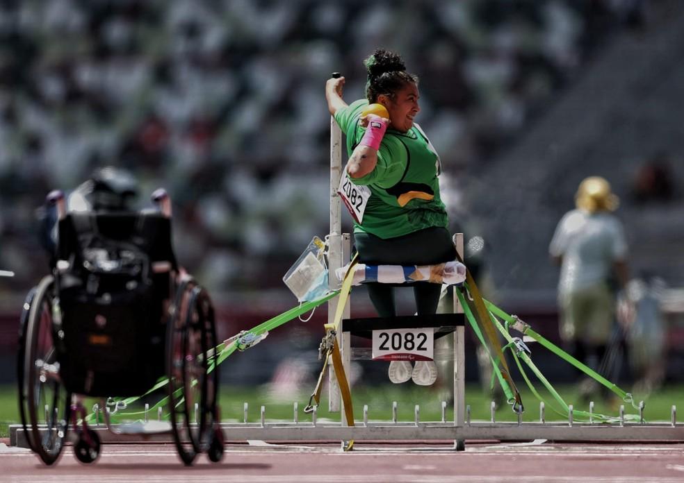 Poliana Jesus ficou longe da medalha — Foto: Miriam Jeske/CPB
