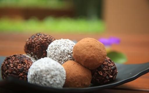 Trufa de chocolate zero açúcar