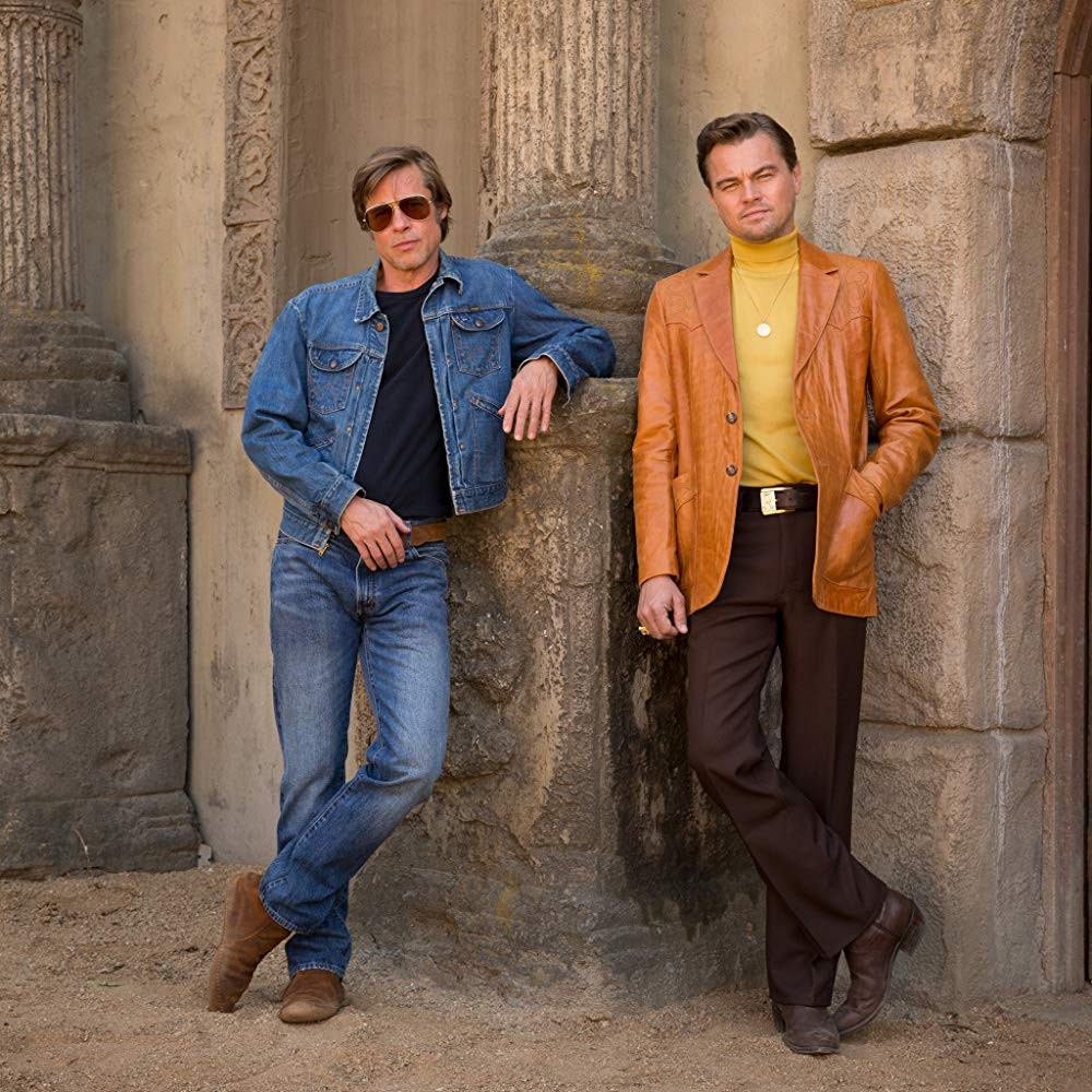 Brad Pitt e Leonardo DiCaprio no filme Once Upon a Time in Hollywood (2019) (Foto: Divulgação)