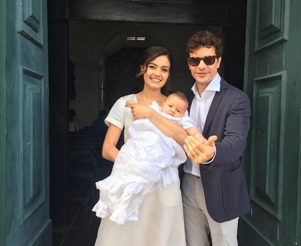 Daniel de Oliveira, Sophie Charlotte e o pequeno Otto (Foto: Reprodução Instagram)