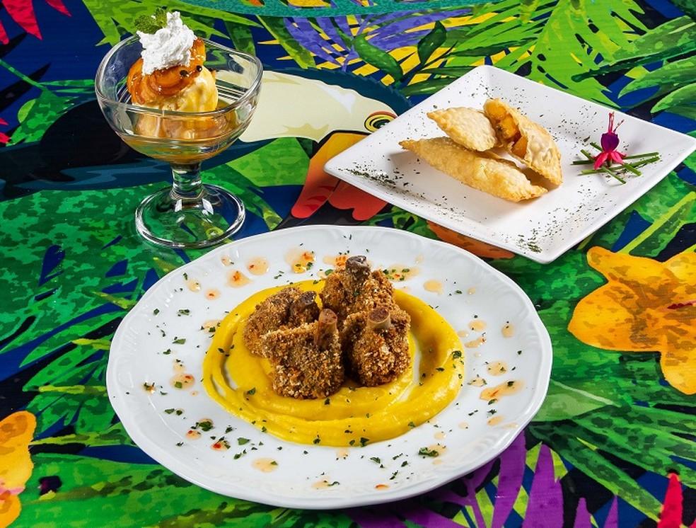Menu do restaurante C'est La Vie na 8ª edição do festival Panelas da Casa, em Brasília — Foto: Rômulo Juracy/Divulgação