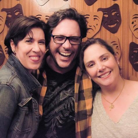Maria Clara Gueiros, Lucio Mauro Filho e Heloísa Périssé (Foto: Dado Marietti)