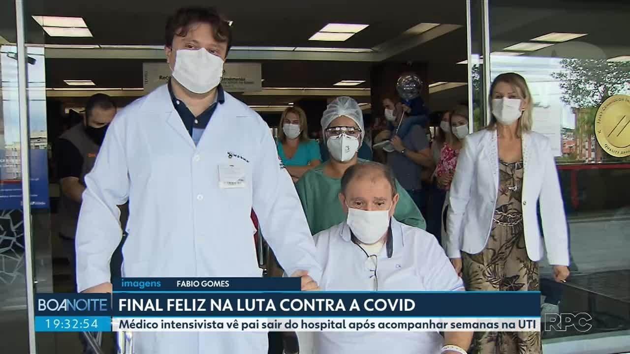 Médico intensivista acompanha alta do pai após semanas de internamento por Covid
